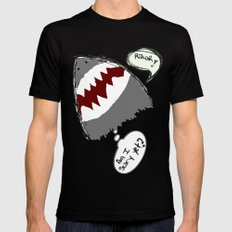 am i scary yet? SMALL Mens Fitted Tee Black