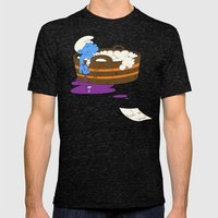 SUICIDAL SMURF  Mens Fitted Tee Tri-Black SMALL