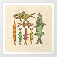 Freshwater Freaks Art Print