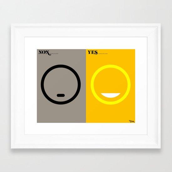 l'humeur Framed Art Print