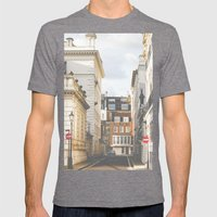 Vintage London Mens Fitted Tee Tri-Grey SMALL
