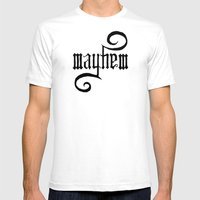 Unleash MAYHEM Mens Fitted Tee White SMALL