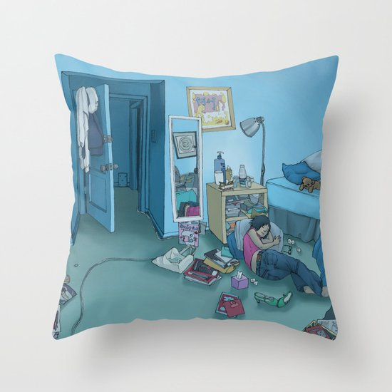 DC Sleeps Throw Pillow