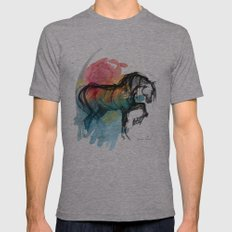 Horse (Saklavi - color version) Mens Fitted Tee Athletic Grey SMALL