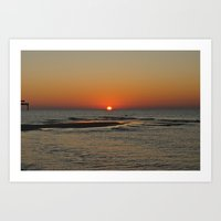 Gulf Sunrise In October Art Print
