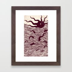 Octopus The Rising Sun II Framed Art Print