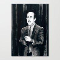 DARK COMEDIANS: Jerry Se… Canvas Print