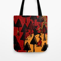 the dancing monster in the woods Tote Bag