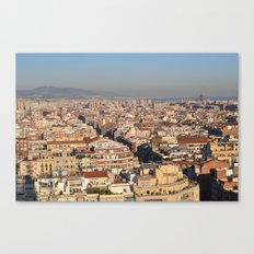 A View of Barcelona Canvas Print