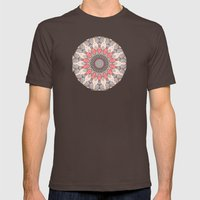manDala Mens Fitted Tee Brown SMALL