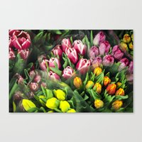 Tulips At Market Canvas Print