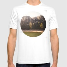Crystal Lake, CA SMALL White Mens Fitted Tee