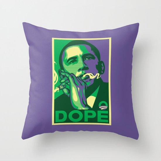 the dopest president Throw Pillow