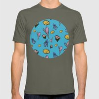 cutout flowers Mens Fitted Tee Lieutenant SMALL