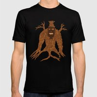 Tree Stitch Monster Mens Fitted Tee Black SMALL