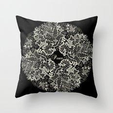 Peace Poppy Throw Pillow