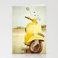 Mod Style in Yellow Stationery Cards