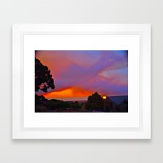 Smoky Sunset Bay Framed Art Print