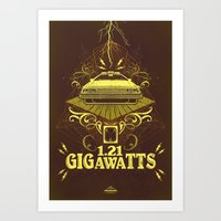 Back To The Future Gigaw… Art Print