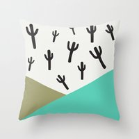 Cactus – Minty Throw Pillow