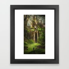 Forest Temple  Framed Art Print