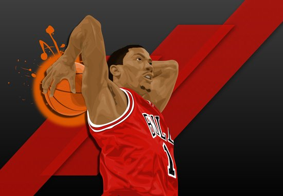 D Rose Canvas Print