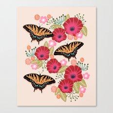 Swallowtail Florals by Andrea Lauren  Canvas Print