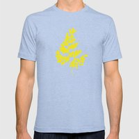 Spring Yellow Mens Fitted Tee Tri-Blue SMALL