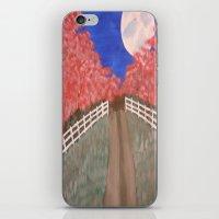 Cherry Blossom Pathway iPhone & iPod Skin