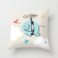 When Elephants Dream Throw Pillow