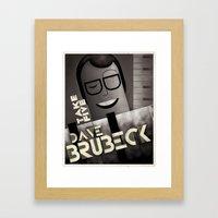 CASSANDRE SPIRIT - Dave Brubeck Framed Art Print