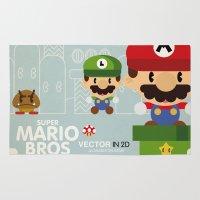 Mario Bros 2 Fan Art Rug