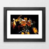 Golden Optimus Framed Art Print