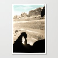 Delicate Arch shadow Canvas Print