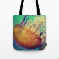 aquatic waveform Tote Bag