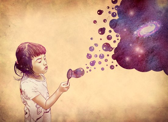 Cosmic Bubbles Art Print