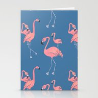 Flamingo Pattern Stationery Cards