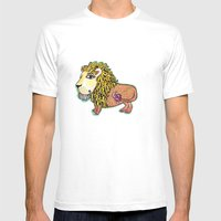 ox MAJESTIC LEO xo Mens Fitted Tee White SMALL