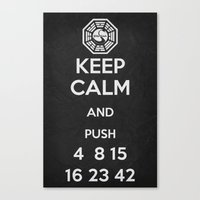 Keep Calm - Lost Poster Canvas Print