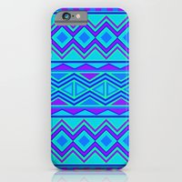 iPhone & iPod Case featuring Tribal Pattern (blue & purple) by christinarashel