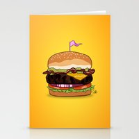 Bacon Cheeseburger Stationery Cards