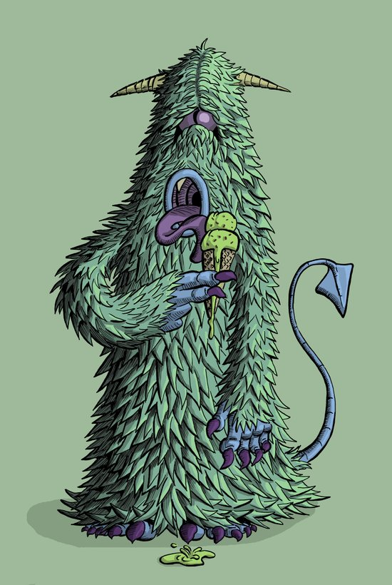 Id Monster Art Print