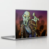 zombie Laptop & iPad Skins featuring ZOMBIE! by Billy Allison