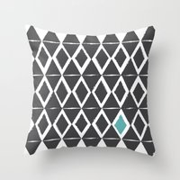 Diamond Back Throw Pillow