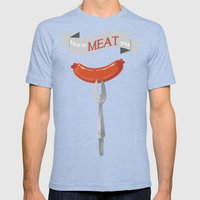 Nice To MEAT You! Mens Fitted Tee Tri-Blue SMALL