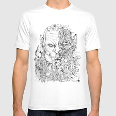 WARCRAFT DOODLE Mens Fitted Tee White SMALL