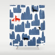 Animal World Shower Curtain