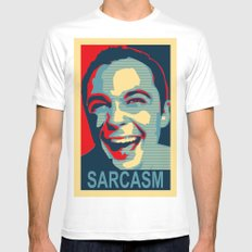 Sarcasm Mens Fitted Tee White SMALL