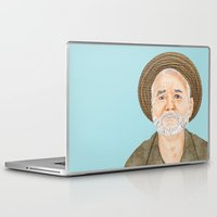 bill murray Laptop & iPad Skins featuring Bill Murray by Ashley Payne