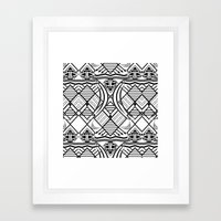 Monochrome Tribe Framed Art Print